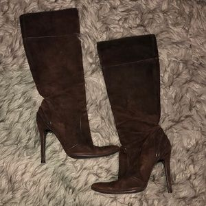 Fendi Brown Suede Heeled Boots
